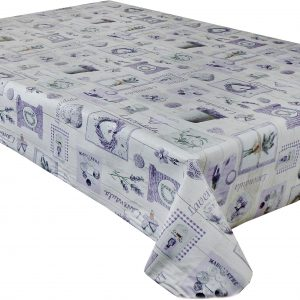 Lavender Keepsake vinyl tablecloth