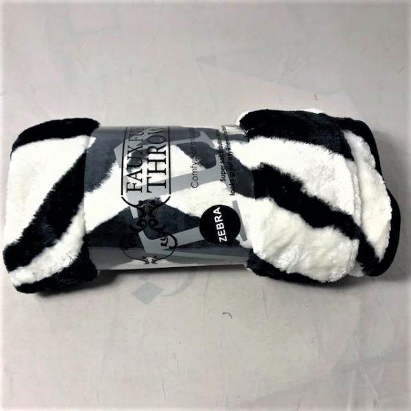 Zebra stripe print throw