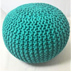 Footstool or pouffe in teal