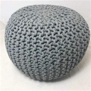 Footstool or pouffe in stone