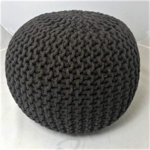 Footstool or pouffe in chocolate brown