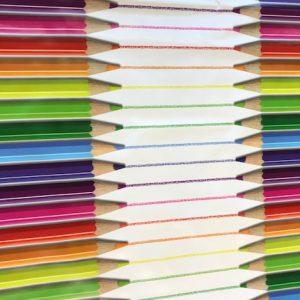Pencil stripe vinyl tablecloth