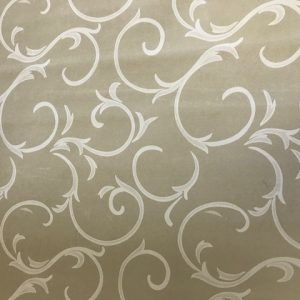 Beige scroll vinyl tablecloth