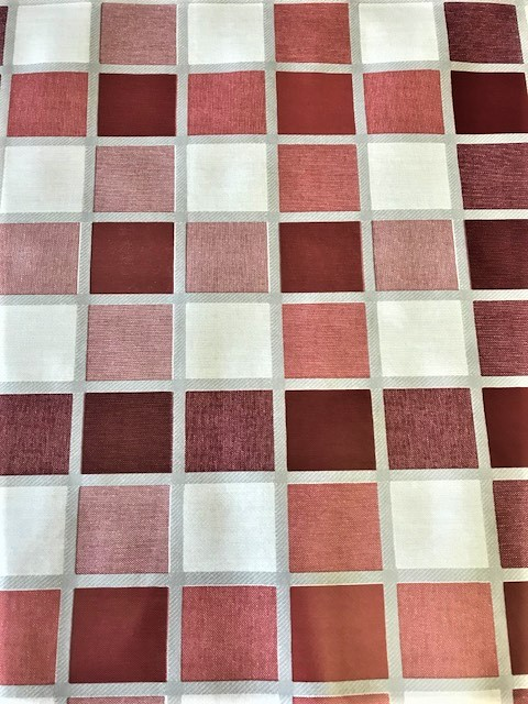 Red tiles vinyl tablecloth