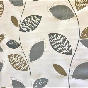 Silver grey leaves vinyl tablecloth