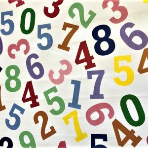 Colourful numbers vinyl tablecloth