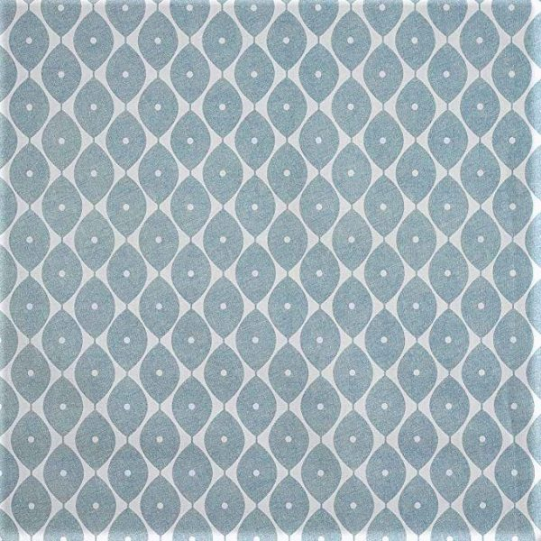 Morrocan duck egg blue vinyl tablecloth