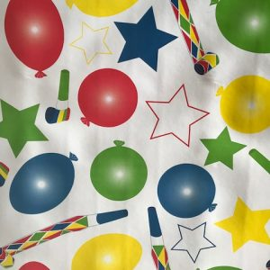 Balloon party vinyl tablecloth