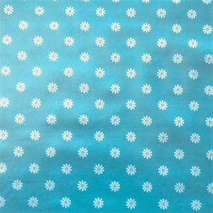 Daisy duck egg blue vinyl tablecloth