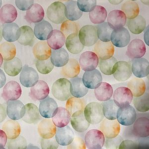 Bubbles ivory vinyl tablecloth