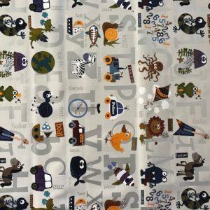 Picture Alphabet vinyl tablecloth