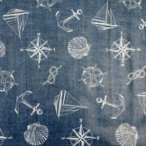 Denim Nautical vinyl tablecloth