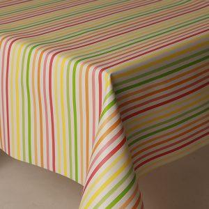 Candy Stripe vinyl tablecloth