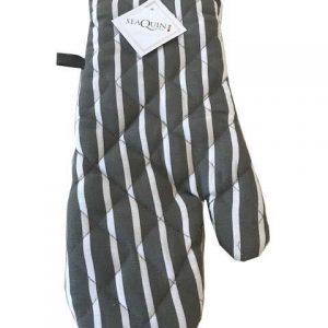 Slate butchers stripe single oven glove