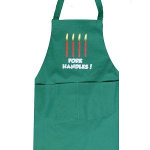 Full length apron fork handles