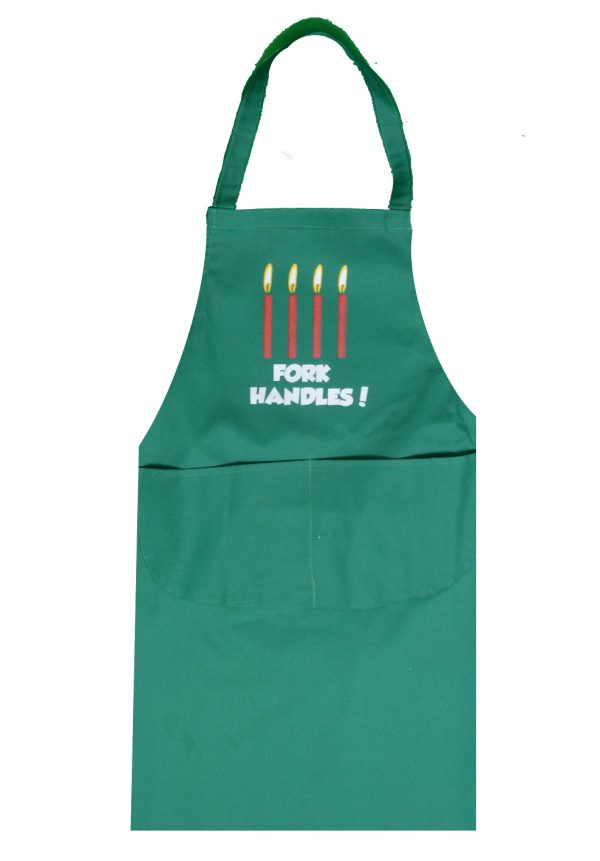 Full length apron fork handles