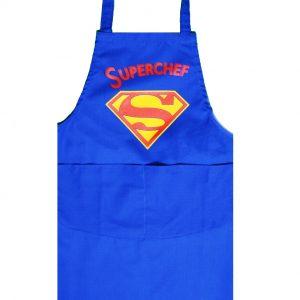 Full length apron superchef in blue
