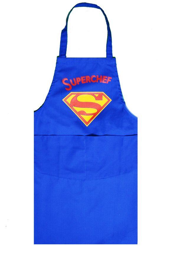 Full length apron superchef in blue
