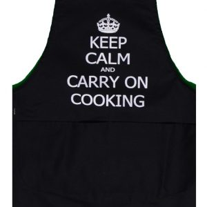 Full length apron keep calm and carry on cooking
