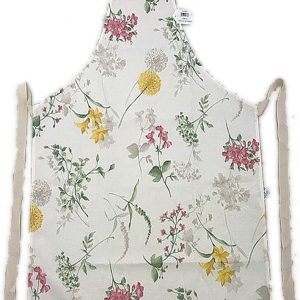 Full length apron spring flowers