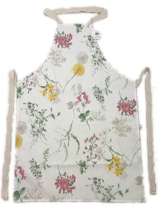Full length apron spring flowers