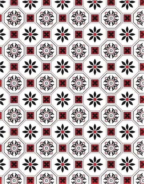 Mosaic tile red vinyl tablecloth