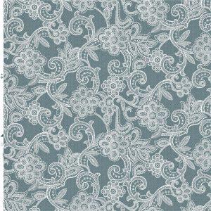 White crochet flower vinyl wipe clean tablecloth