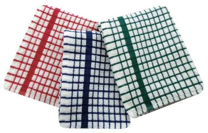 Terry tea towels in 100% cotton