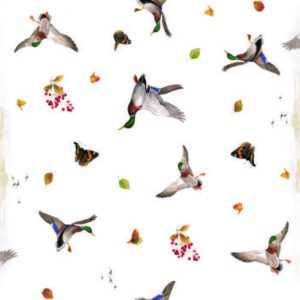 Country wildlife vinyl tablecloth