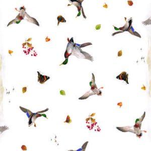 Country wildlife vinyl tablecloth