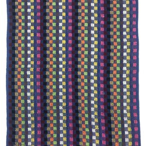 Kitchen hand towels in a dark multi check design