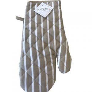 Stone butchers stripe single oven glove