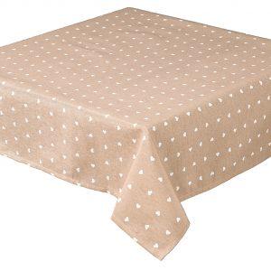 Hearts Square Coffee Tablecloth