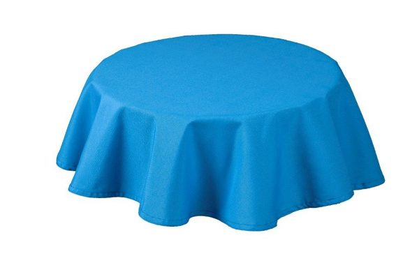 Rio Blue Round Tablecloth