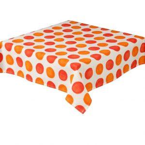 Zest Burnt Orange Square Spots Tablecloth