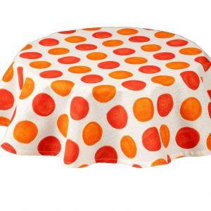 Zest Burnt Orange Round Tablecloth