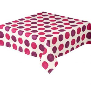 Zest Fuchsia Square Spots Tablecloth