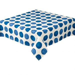 Zest Blue Square Spots Tablecloth