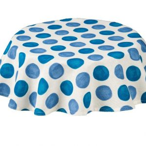 Zest blue Round Spots Tablecloth