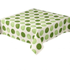 Zest Lime Square Spots Tablecloth