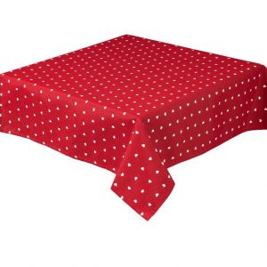 Hearts Rectangle Red Tablecloth