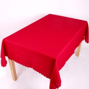 Shell Tablecloth Red Round 54 inch (137 cm)