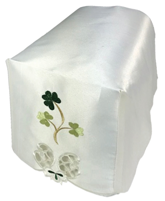 Shamrock cream chair covers in a set of 6 arm caps and 5 chair backs