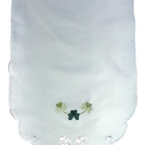 Shamrock embroidered chair back