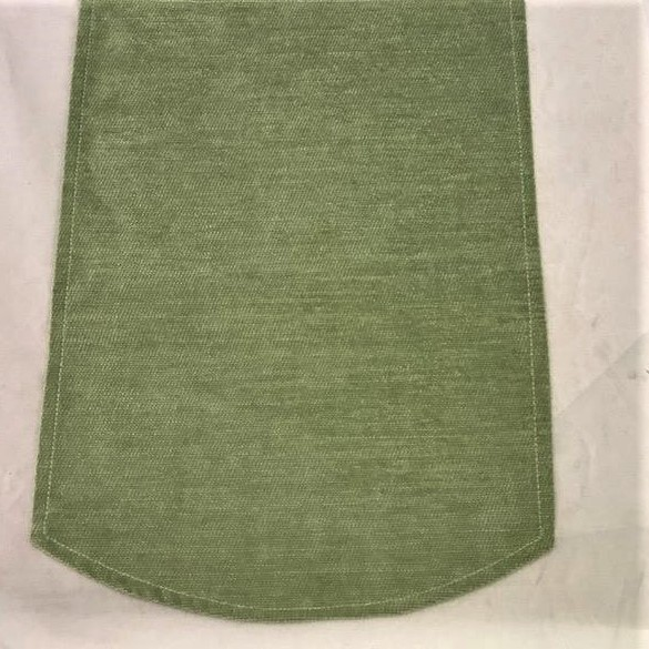 Green chenille chair covers in a set of 6 arm caps and 5 chair backs