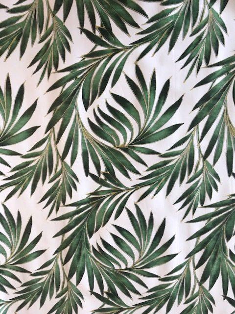 Tropical palm leaf green design vinyl tablecloth