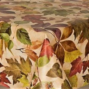 Autumn leaves vinyl tablecloth
