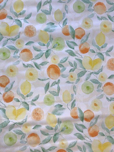 Oranges lemons vinyl tablecloth
