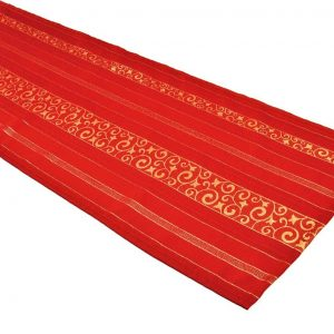 Fab red table runner