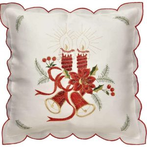 Candles white cushion covers